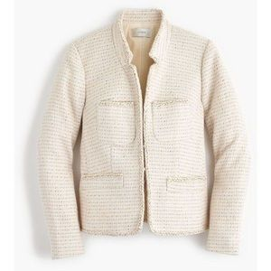 J.Crew 00 metallic tweed jacket